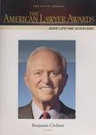 American Lawyer Awards - 2009 Lifetime Achievers by Benjamin R. Civiletti