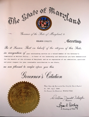 Governor's Citation
