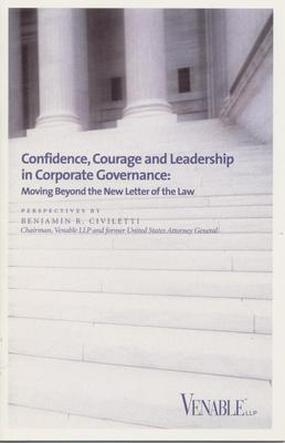 Confidence, Courage and Leadership in Corporate Governance - cover