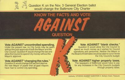 Know the Facts and Vote Against Question K