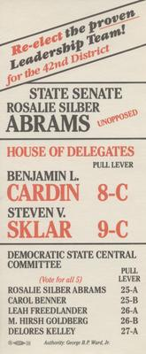 Rosalie Silber Abrams for State Senate