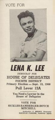 Vote for Lena K. Lee