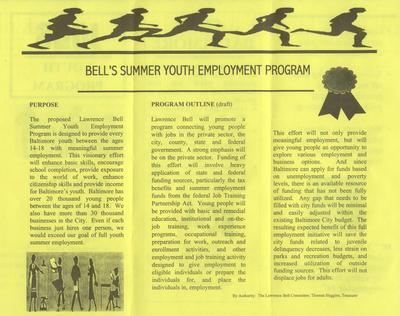 Jobs - Youth Program - The Bell Plan