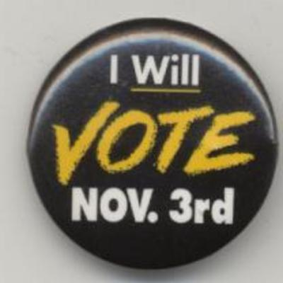 I Will Vote Nov. 3rd