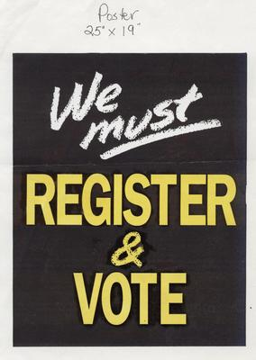 We Must Register & Vote