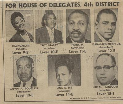 For House of Delegates, 4th District