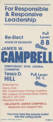 Re-Elect House of Delegates James W. Campbell