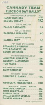 Cannady Team Election Day Ballot