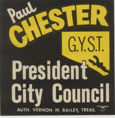 Paul Chester, President City Council