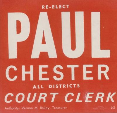 Re-Elect Paul Chester