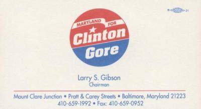 Maryland for Clinton Gore