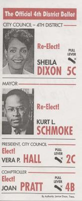 The Official 4th District Ballot
