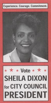 Vote Sheila Dixon for City Council President