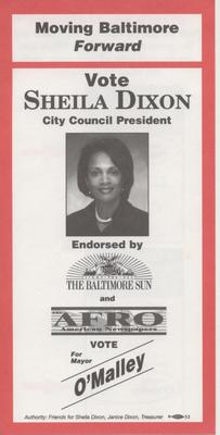 Vote Sheila Dixon, City Council President