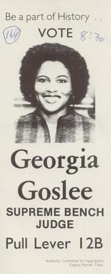 Vote Georgia Goslee - Supreme Bench Judge