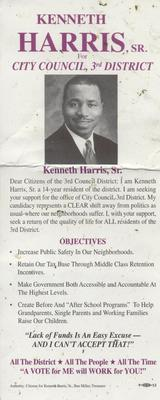 Kenneth Harris, Sr. for City Council, 3rd District