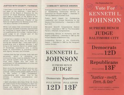 Vote for Kenneth L. Johnson