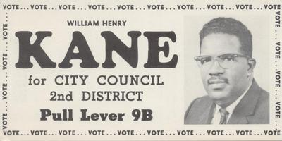 William Henry Kane for City Council