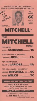 The Official Mitchell-Schmoke Fourth Councilmanic District Ballot