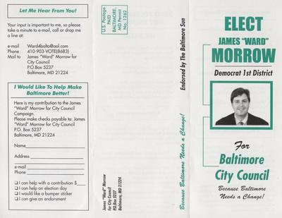 "Elect James ""Ward"" Morrow for Baltimore City Council"