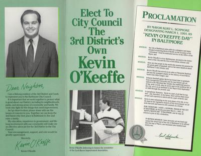 The New 3rd District's Own Kevin O'Keeffe for City Council