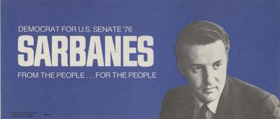 Sarbanes - From the People - For the People