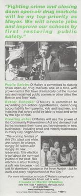 For Change & Reform - O'Malley for Mayor (alternate version)