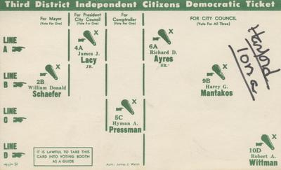 Third District Independent Citizens Democratic Ticker