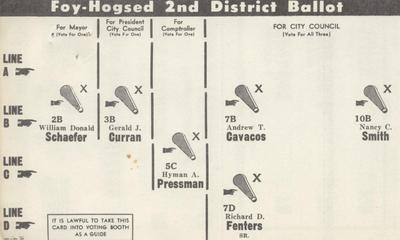 Foy-Hogsed 2nd District Ballot