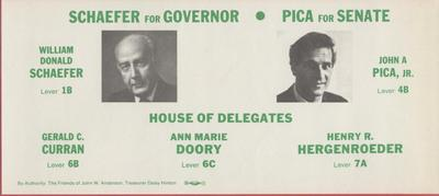 Schaefer for Governor - Pica for Senate (alternate version)