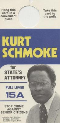 Kurt Schmoke for State's Attorney