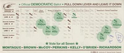 Official Democratic Ballot 44th District