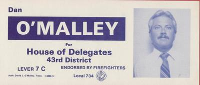 Dan O'Malley for House of Delegates