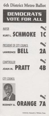 6th District Metro Ballot - Democrats Vote for All