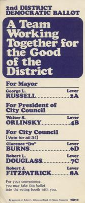 2nd District Democratic Ballot