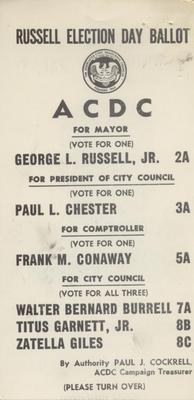 ACDC Election Day Ballot