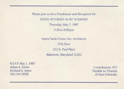 Invitation - Ayers/Saint/Gross, Inc. Architects