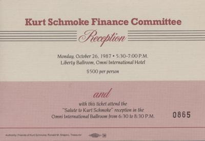 Kurt Schmoke Finance Committee Reception