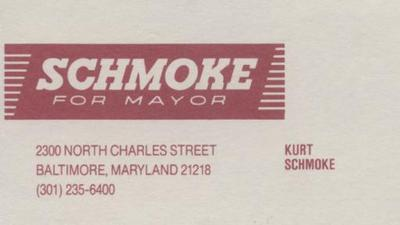 Schmoke for Mayor