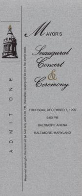 Mayor's Inaugural Concert and Ceremony