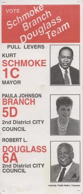 Vote - Schmoke - Branch - Douglass Team
