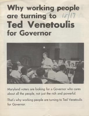 Ted Venetoulis for Governor