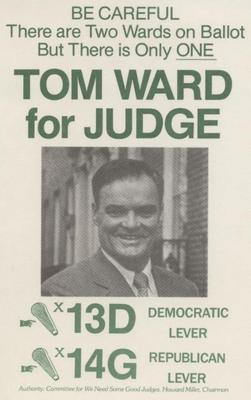 Tom Ward for Judge