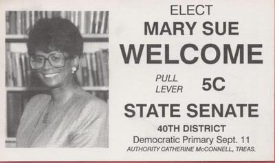 Elect Mary Sue Welcome