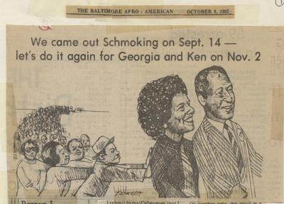 """We came out Schmoking on Sept. 14 – let's do it again for Georgia and Ken on Nov. 2"""
