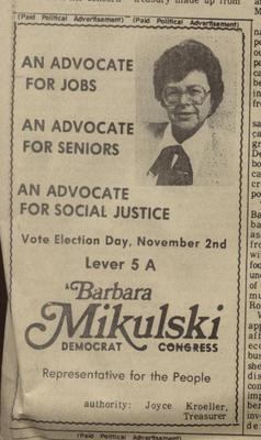 An Advocate for Jobs, An Advocate for Seniors, An Advocate for Social Justice