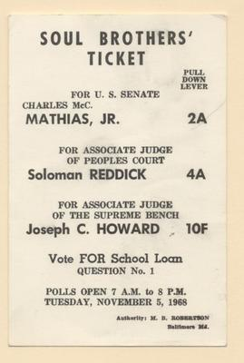 Soul Brothers' Ticket, 1968