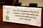10th Colloquium of the IUCN Academy of Environmental Law Banner