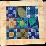 Fiber Art Journal 1-5, Blue Tiles by Patricia Yolande Ciricillo